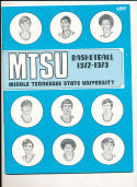 1972 - 1973 Middle Tennessee State University  Basketball press Media guide