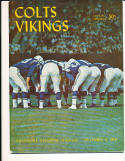 12/8 1963 Baltimore Colts vs Minnesota Vikings football program