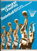 1972 - 1973 West Virginia University  Basketball press Media guide