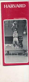 1972 - 1973 Harvard University Basketball press Media guide