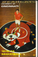 1972 - 1973 Cincinnati University Basketball press Media guide