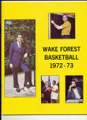 1972 - 1973 Wake forest University  Basketball press Media guide