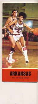 1972 - 1973 Arkansas University Basketball press Media guide