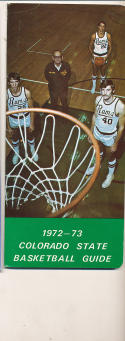 1972 - 1973 colorado State University Basketball press Media guide