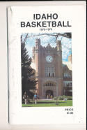 1972 - 1973 Idaho  Basketball press Media guide
