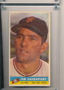 1959 Bazooka Jim Davenport San Francisco Giants  PSA near mint