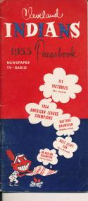 1955 Cleveland Indians Press TV guide em -