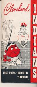 1950 Cleveland Indians Press TV guide em