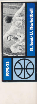 1972 - 1973 St. Louis University Basketball press Media guide