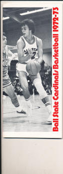 1972 - 1973 Ball State University Basketball press Media guide