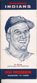 1954 Cleveland Indians Press TV guide em - Al Rosen Indians