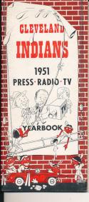 1951 Cleveland Indians Press TV guide em