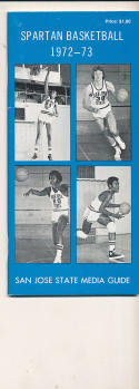 1972 - 1973 San Jose State University Basketball press Media guide