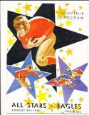 August 24, 1938 All Stars vs Philadelphia Eagles football program NM