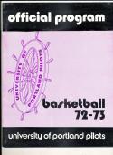 1972 - 1973 Portland University  Basketball press Media guide