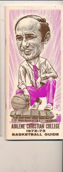 1972 - 1973 Abiline christian college University Basketball press Media guide