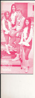 1972 - 1973 Centenary University Basketball press Media guide