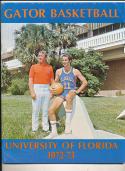 1972 - 1973 Florida University Basketball press Media guide