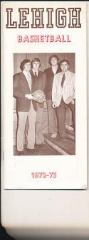 1972 - 1973 Lehigh University Basketball press Media guide