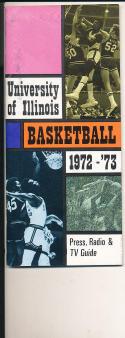 1972 - 1973 Illinois University Basketball press Media guide