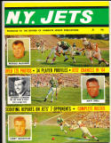 1964 New York Jets Complete Sports Magazine Yearbook em