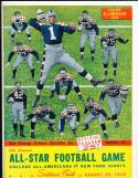 1939  8/30  New York Giants vs College all Americans  Football program