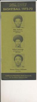 1972 - 1973 Cal Poly San Luis Obispo University Basketball press Media guide