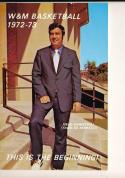 1972 - 1973 W&M Basketball press Media guide