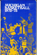 1972 - 1973 Michigan University Basketball press Media guide bkbx8