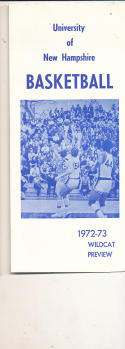 1972 - 1973 New Hampshire Basketball press Media guide