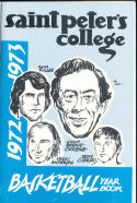 1972 - 1973 Saint Peters College  Basketball press Media guide