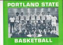 1972 - 1973 Portland State University  Basketball press Media guide