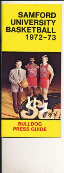 1972 - 1973 Samford University Basketball press Media guide