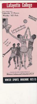 1972 - 1973 Lafayette College Basketball press Media guide