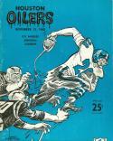 November 13, 1960 Houston Oilers  vs Los Angeles Chargers football program