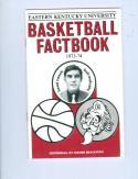 1973 Eastern Kentucky Basketball Media Guide bkbx6.1469