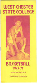 1973 West Chester State College Basketball Media Guide bkbx6.1578