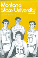 1973 Montana Basketball Media Guide bkbx6.1517