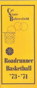 1973 Cal State Bakersfield Basketball Media Guide bkbx6.1450