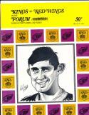 3/12 1968 Los Angeles Kings vs Detroit Red Wings Hockey Program Bill Flett