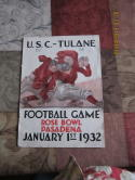 1932 USC vs Tulane Rose Bowl stadium version football program