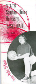 1973 Southern Illinois Basketball Media Guide bkbx6.1549