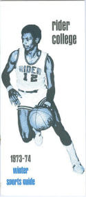 1973 Rider College Basketball Media Guide bkbx6.1541