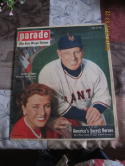 1952  April 13, Parade magazine Leo Durocher & lauranie day