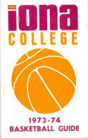 1973 Iona College Basketball Media Guide bkbx6.1491
