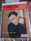 Marlo Brando 1956  March 16 Collier's em label