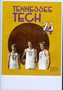 1973 - 1974 Tennessee Tech Basketball Media Press Guide bkbx9