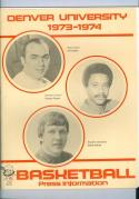 1973 Denver Basketball Media Guide bkbx6.1601