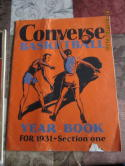 1931 Converse Basketball Yearbook complete vg