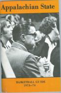 1973 Appalachian State Basketball Media Guide bkbx9